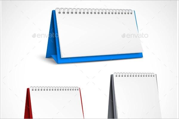 Spiral Table Calendar Template