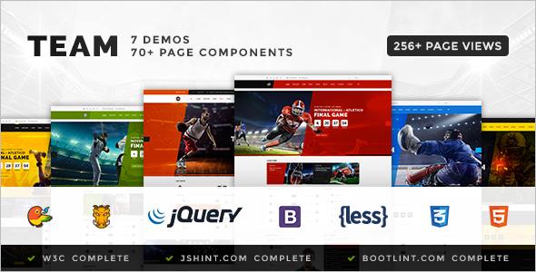 Sport Website Coming Soon Template