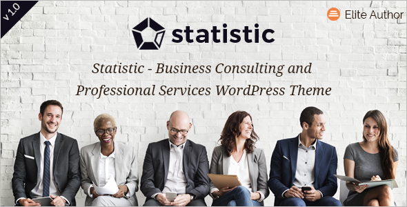 Statistic Consulting Business WordPress Theme