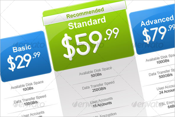 Stylish Pricing Table Design