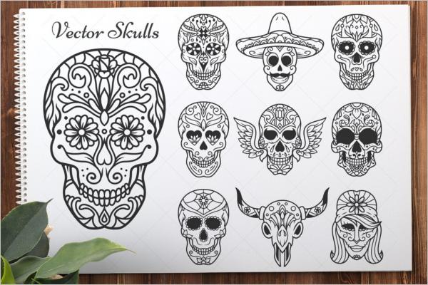 Sugar Skull Vector Design