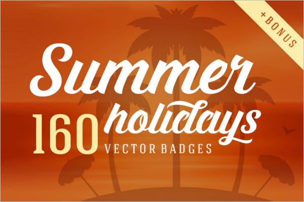 Summer Holiday Logo Design
