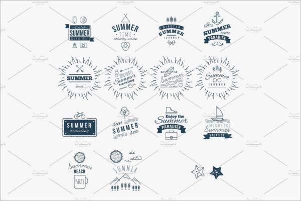 Summer Logo PNG Design