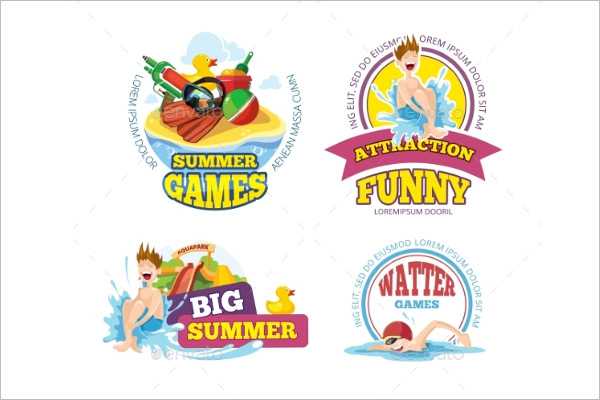 Summer Logo label Design