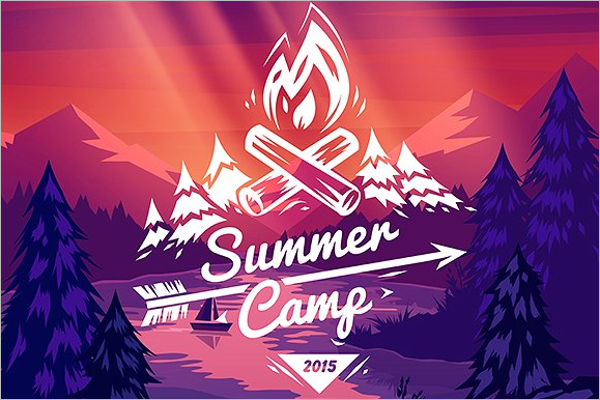 Summer Typography Logo Template