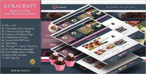 Sweet Recipe WordPress Theme