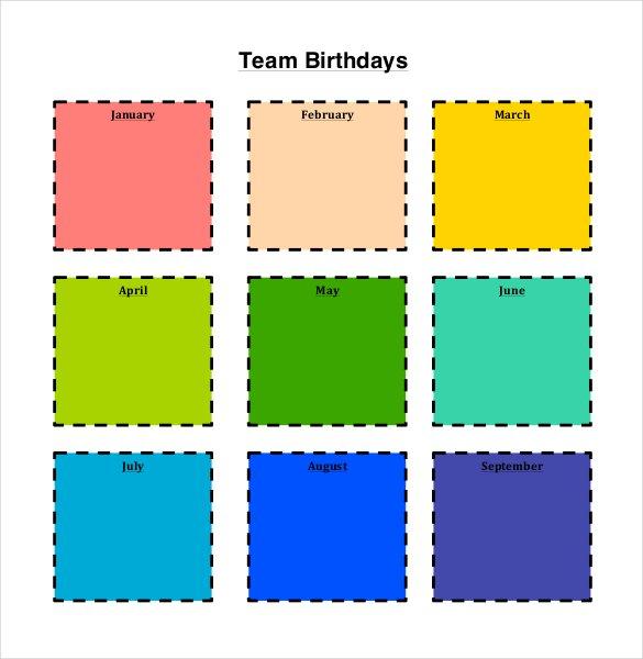 42 birthday calendar templates free premium designs generic birthday calendar template maxwellsz