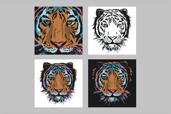 Tiger Collection Tattoo Design