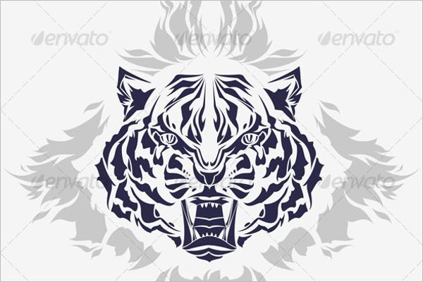 Tiger Flames Tattoo Design