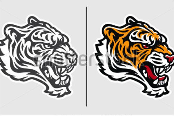 Tiger Tattoo Stock Design
