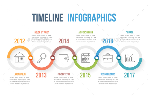Infographic timeline template psd
