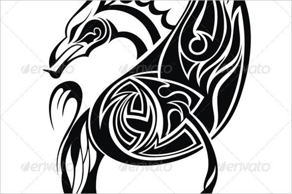 Top View Dragon Tattoo Design