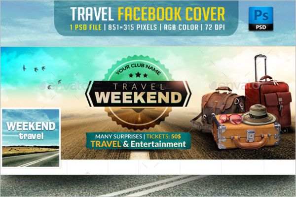 Travel Facebook Cover Holiday Template