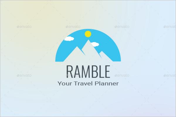 Travel Mobile App Logo Design