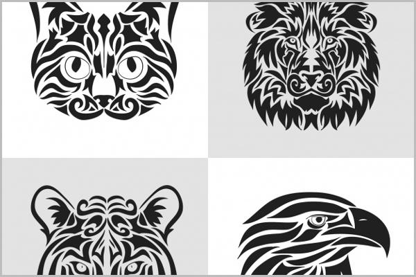 Tribal Animal Tattoo Design
