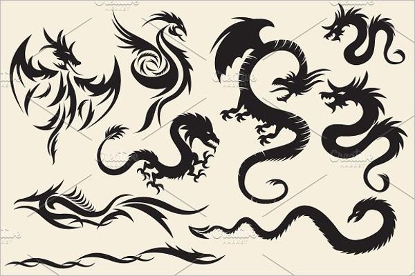 Tribal Dragon Tattoo Design