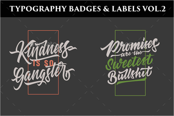 Typography Badge Label Template
