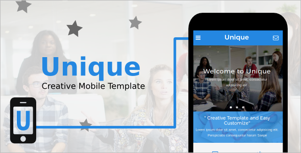Unique Creative Mobile Template