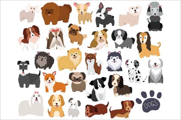 Unique Dog Cartoon Design