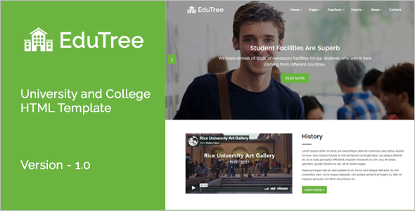 University HTML5 Template