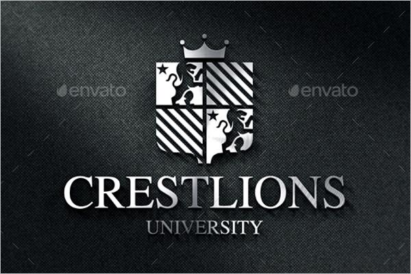 University Vintage Apparel Label Design