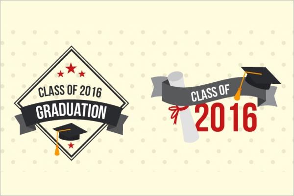 University Vintage Graduation label