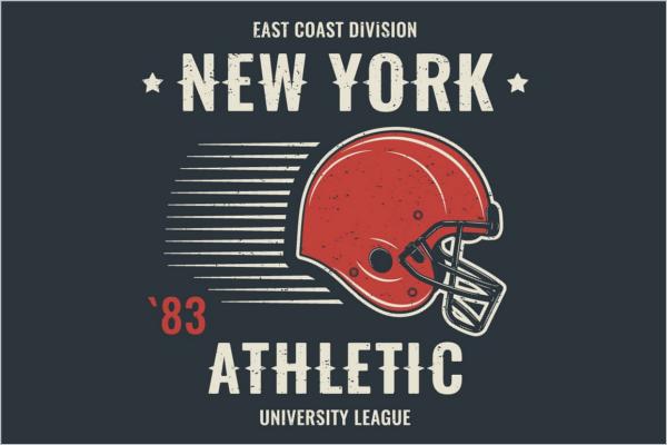 University Vintage Label Design