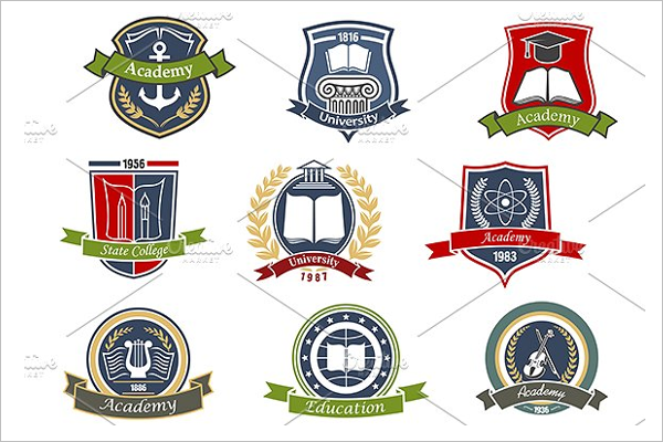 University Vintage Label Icon