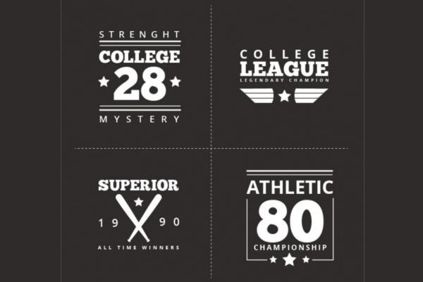 University Vintage Sport Label