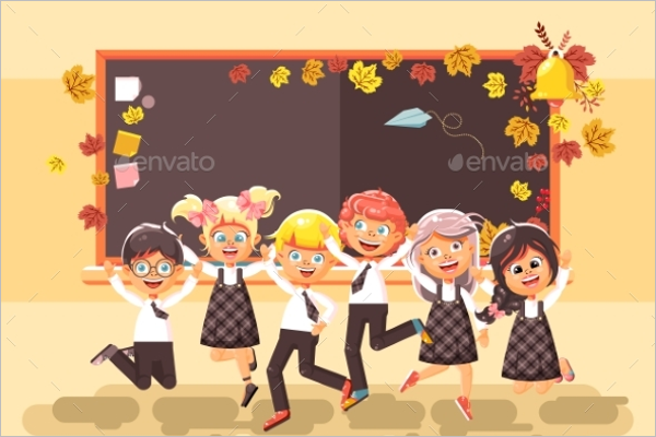Vector Illustration Back To School Design