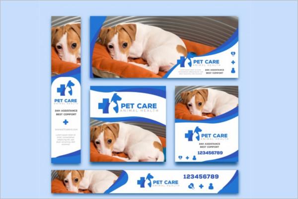 Veterinary Pet care Banner Design