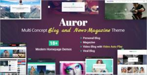 Video Blog Magazine WordPress Theme
