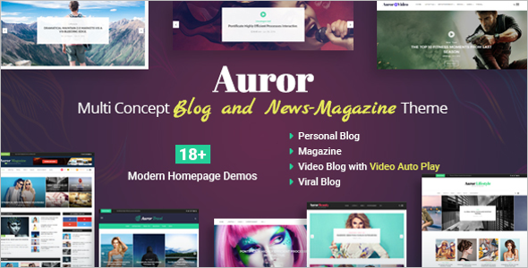 Video Blog Magazine WordPress Theme