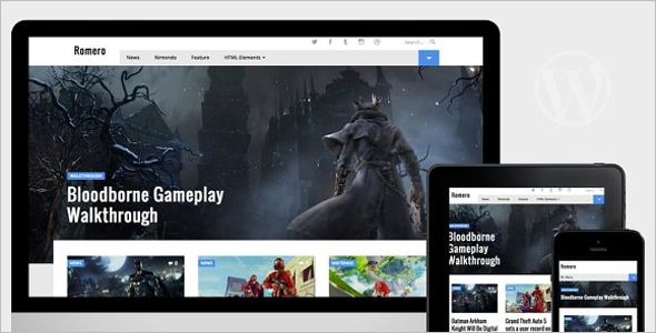 Video Game WordPress Theme