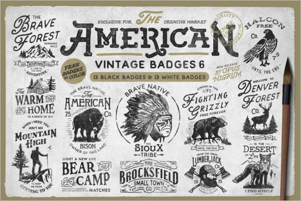 Vintage Badge Bar Template