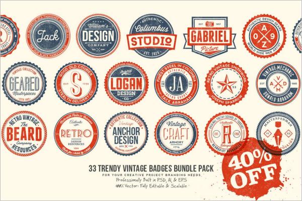 Vintage Badge Bundle Template
