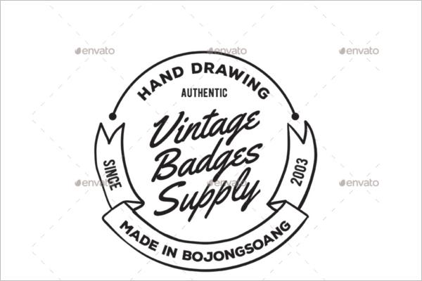 Vintage Badge Drawing Design