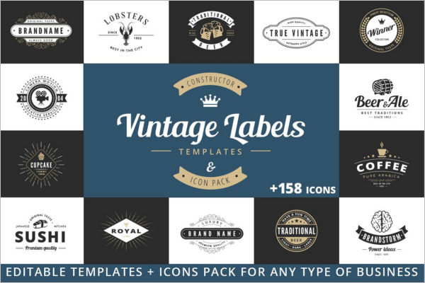 Vintage Badge PSD Template