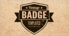 Vintage Badge Templates