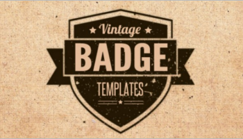 Vintage Badge Templates