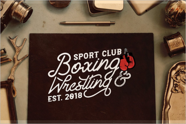 Vintage Boxing Badge Template