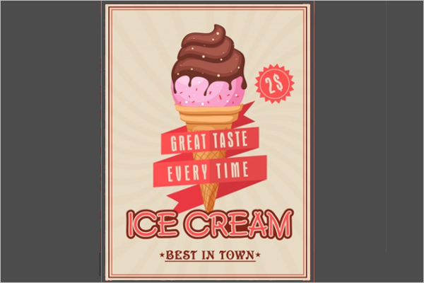 Vintage Ice Cream Banner Design