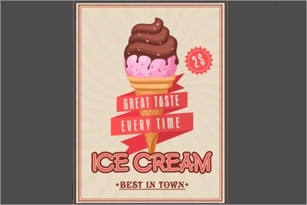 Vintage Ice Cream Banner Design