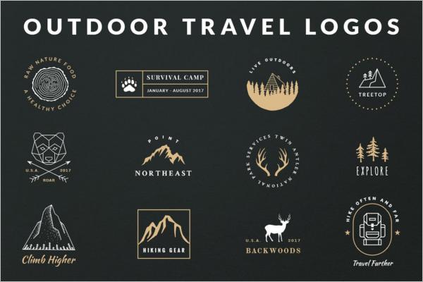 Vintage Outdoor Travel Logo Design