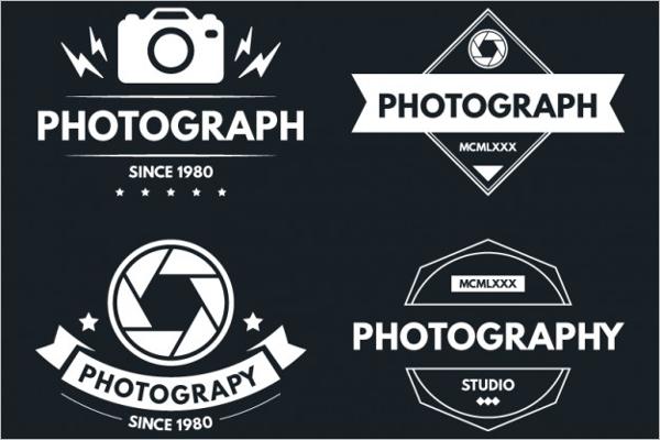 Vintage Photography Badge Logo
