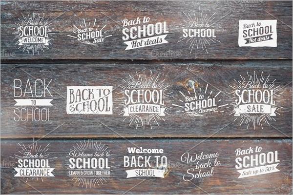 Vintage School Badge Design