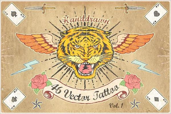 Vintage Tiger Tattoo Design