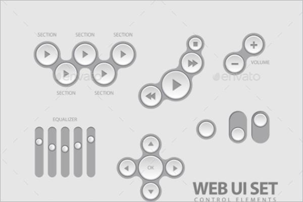 Web Button Element Template