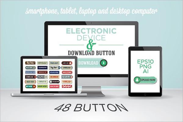 Web button pad Template