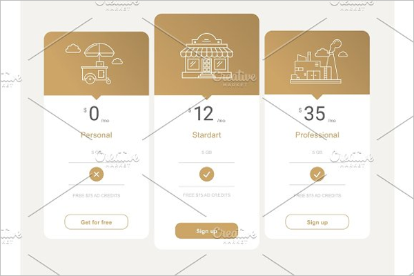 Website Pricing Page Template